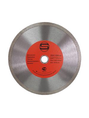 Диск алмазный 250x25.4/22.23x10мм по плитке СПЛОШНОЙ STRONG СТД-12400250