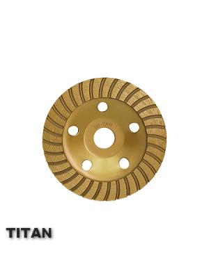 Алмазная чашка 125x22.23 по бетону TURBO TITAN СТД-19000125