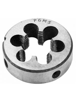 Плашка круглая М6 шаг 1мм для нарезания внешней резьбы STRONG СТМ-51400006