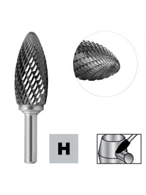 Борфреза формы пламя по металлу 10мм тип H (FLH) STRONG СТМ-51712010