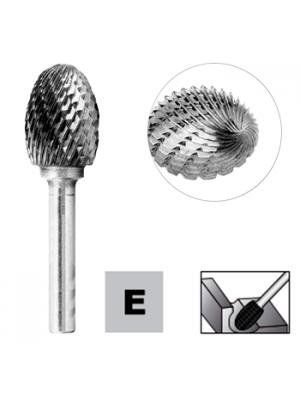 Борфреза форма капля по металлу 8мм тип E (TRE) STRONG СТМ-51740008