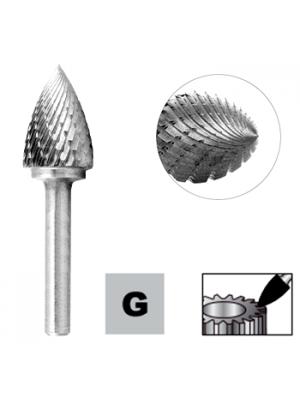 Борфреза снарядная - парабола по металлу 8мм тип G (SPG) STRONG СТМ-51760008