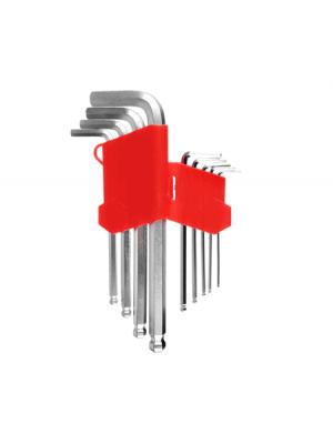 """Набор шестигранных ключей """"средние"""" HEX 1,5-10 мм 9шт с шариком STRONG СТП-92200002"""
