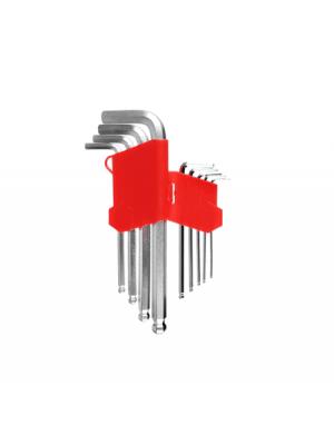 """Набор шестигранных ключей """"короткие"""" HEX 1,5-10 мм 9шт с шариком STRONG СТП-92200003"""
