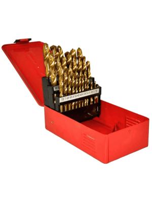 Набор сверл по металлу 25 предметов с титановым покрытием STRONG СТС-021000125